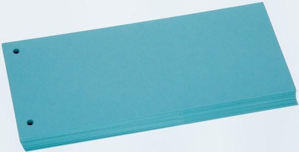 Büroring Trennstreifen blau 10,5x24cm, 190g/qm Karton, gelocht