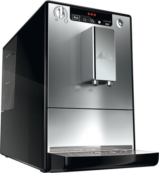 CAFFEO Solo Kaffeevollautomat, schwarz-silber, Café Crème, Espresso