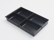 Schubladeneinsatz 4-Fächer H: 51mm