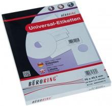 Büroring Etiketten, A4, 70 x 42,3mm, 2100 Etiketten