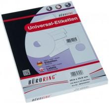 Büroring Etiketten, A4, 64,6 x 33,8mm, 2400 Etiketten