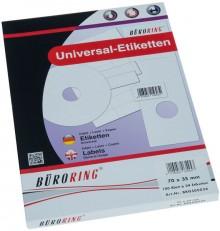 Büroring Etiketten, A4, 70 x 35mm, 2400 Etiketten