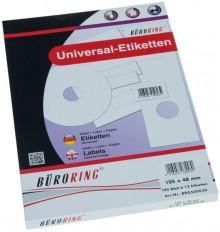 Büroring Etiketten, A4, 105 x 48mm, 1200 Etiketten