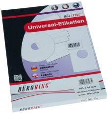 Büroring Etiketten, A4, 105 x 41mm, 1400 Etiketten