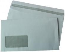 Büroring Kompaktbrief, Selbstklebend, weiß, mit Fenster, 125 x 229mm
