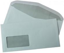 Büroring Kuvertierumschlag C6/5, 80g 114 x 229mm, nassklebend, weiß