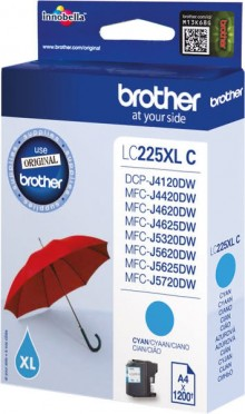 Tintenpatrone LC-225XL cyan für DCP-J4120DW, MFC-J4420DW,