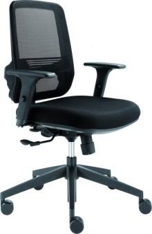Bürodrehstuhl mit Armlehnen hohe Netz-Rückenlehne, 55cm