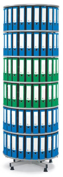Deskin Ordner-Drehsäule 6 Etagen bis zu 216 Ordner, 1000mm Ø x 2390mm Höhe