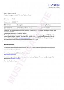 Ersatzteile und Reperatur- Pauschale 5 Jahre für WF-C869R