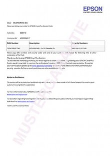 Coverplus - Vor-Ort Service 5 Jahre für WorkForce WF DS-570