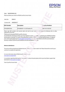 Coverplus - Vor-Ort Service 5 Jahre für WorkForce WF DS-770