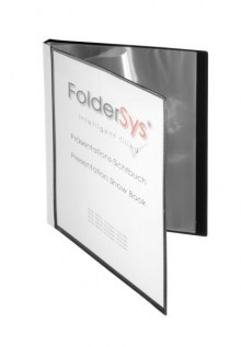 Präsentations-Sichtbuch, 20 Hüllen schwarz 310 x 240 x 18 mm (HxBxT)