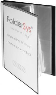 Präsentations-Sichtbuch, 40 Hüllen schwarz 310 x 240 x 27 mm (HxBxT)