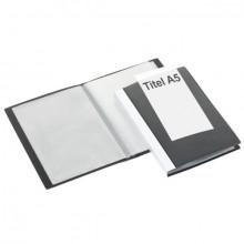 Präsentations-Sichtbuch, 40 Hüllen schwarz 225 x 162 x 26 mm (HxBxT)