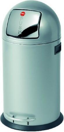 Tret-Abfallsammler KickMaxx 35 silber, Inneneimer verzinkt