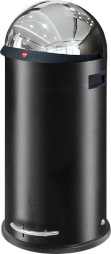 Hailo Großraum-Abfallbox KickVisier, 50 Liter, schwarz