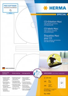 Etikett CD I+L+K 116mm ws 200St 100 Blatt