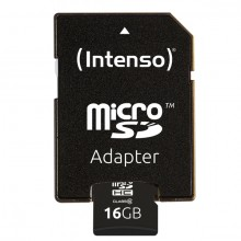 Micro-SDHC Speicherkarte 16GB 10MB/s Class 10, mit SD-Adapter