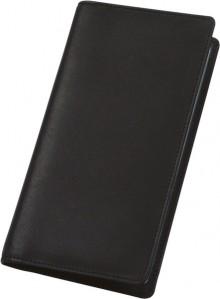 Visitenkartenalbum schwarz Leder für 120 Karten, echt Leder