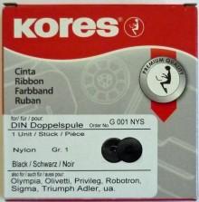 Farbband Gr. 1D Nylon schwarz Doppelspule