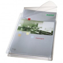 Maxi Prospekthülle A4 PVC 0,17mm genarbt, oben offen mit Klappe