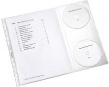 Prospekthülle mit einer CD Klappe an der rechten Außenseite für 2CDs
