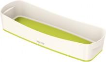 MyBox Aufbewahrungsschale länglich weiß/grün,307x55x150mm,ABS Kunststoff
