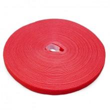 Doppelseitige Klettbandrolle, 25m x 16mm, rot, Klettkabelbinder