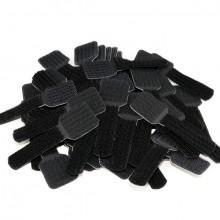 Kabelschellen selbstklebend, schwarz Kabelführung für Wand und
