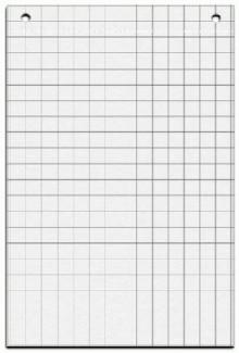 Flipchart Papier 67,5x98cm ws 20 Blatt 25mm Raster 80g Papier