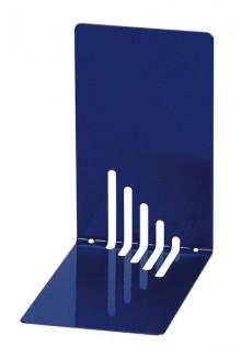 Buchstütze Metall blau schmal 14x14x8,5cm, 1 Paar