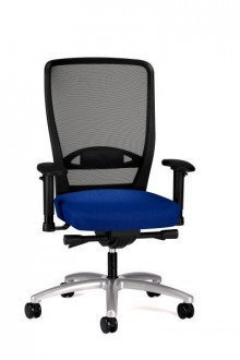 Bürodrehstuhl Younico pro 3476 Bezug: Lucia 6015 dunkelblau