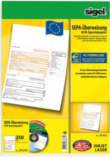 Sigel PC-SEPA-Überweisung 90g Ink/Laser beleglesefähig