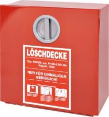 Wandbehälter Metall rot f. Löschdecke 300 x 300 x 125 mm