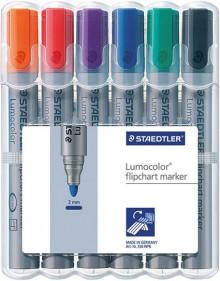 Lumocolor Flipchart marker mit Rundspitze 2mm