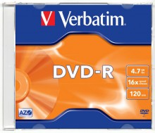 Rohling DVD-R 4,7 GB/120Min. 16-fach in Jewel case