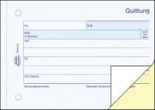 Quittung A6 quer SD 2 x 40Blatt für Kleinunternehmer