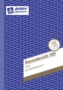 Kassenbericht A5, MP, 50Blatt