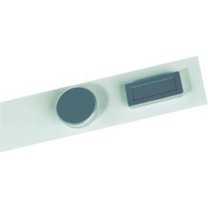 Wand-Magnetleiste, selbstklebend weiß 50x5cm, mit Polsterklebeband