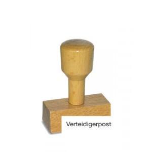 Holzstempel Verteidigerpost