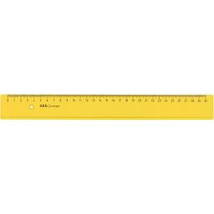 Lineal Kunststoff 30cm Geo Contrast, gelb transparent