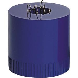 Büroklammernspender clipboy royalblau magnetisch mit Klammern