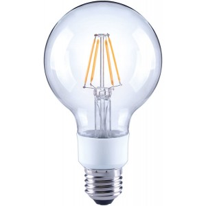 LED-Globe G80, E27, 4,5W, dimmbar, 470 lm, klar