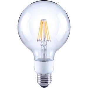 LED-Globe G95, E27, 7W, dimmbar, 810 lm, klar