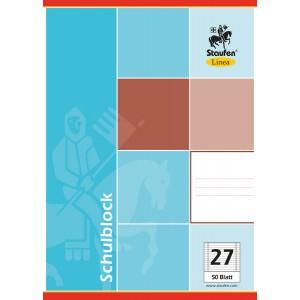 Schulblock, A4, liniert, Papier 60g, 50 Blatt, 4-fach gelocht, Doppelrand