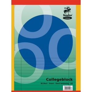 Collegeblock, A4, 60g, liniert Doppelrand, 80 Blatt, Linea, LIN 27