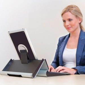 Ergonomischer Tablethalter geeignet für alle Tablets von 9,7 - 10,5 Zoll.
