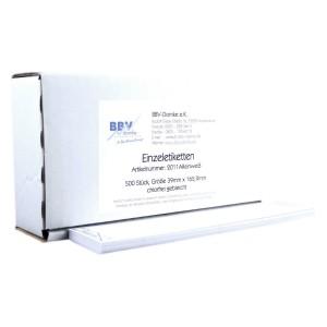 BBV-Domke Einzeletiketten Reinweiss passend für alle Maschinen