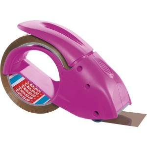 tesapack Handabroller packngo, pink, inkl. 1 Rolle tesapack braun